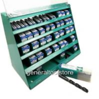HELLER HSS TWIST DRILL DISPLAY 400 DRILL BITS PLUS METAL COUNTER MERCHANDISER